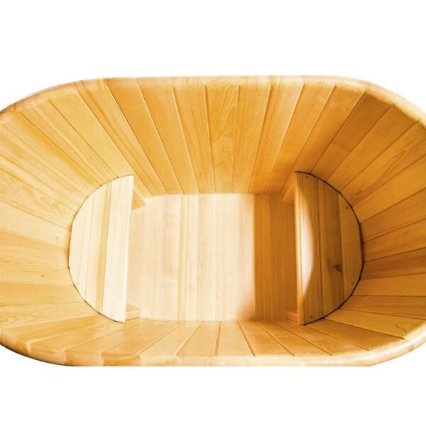 кедровая овальная 3 Овальная кедровая купель 78*140*120*4 см