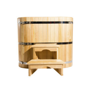 Овальная кедровая купель 78*100*120*4 см