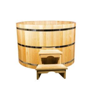 Круглая купель из кедра 120*120*4 см