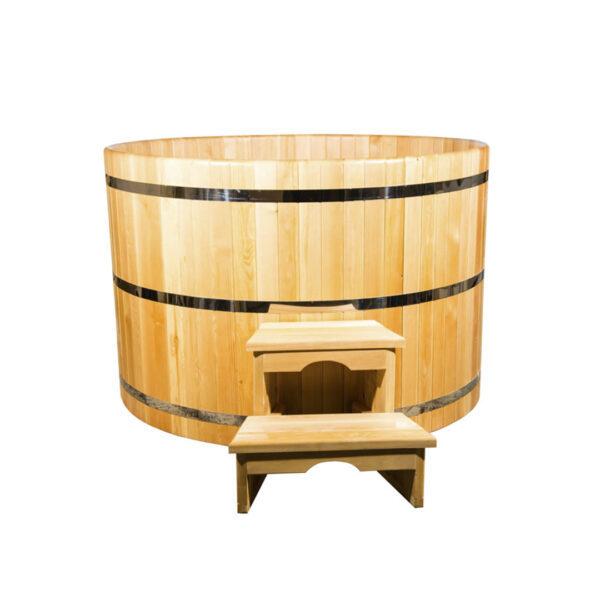 круглая из кедра диаметр 120 см высота 120 см 1 Круглая купель из кедра 120*120*4 см