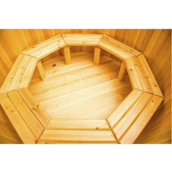 круглая из кедра диаметр 120 см высота 120 см 33 Круглая купель из кедра 120*120*4 см
