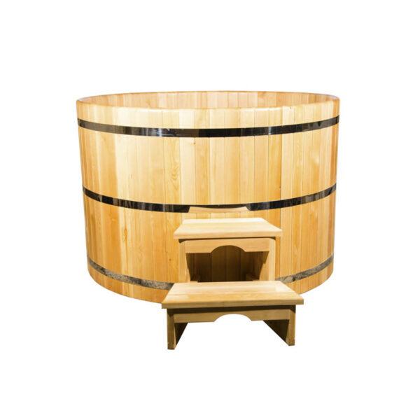 круглая из кедра диаметр150 см высота120 см 1 Круглая купель из кедра 150*120*4 см
