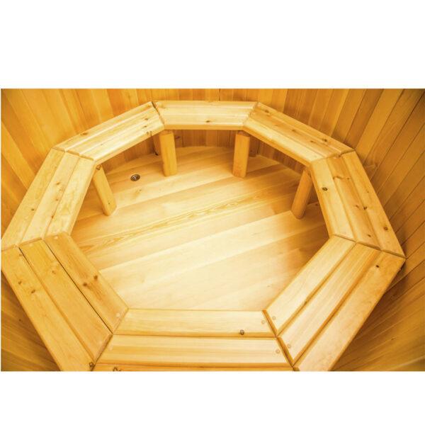 круглая из кедра диаметр150 см высота120 см 12345 Круглая купель из кедра 150*120*4 см