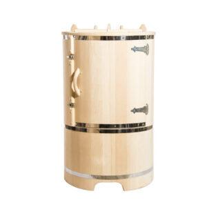 Овальная кедровая бочка – 130*78*100* 4 см