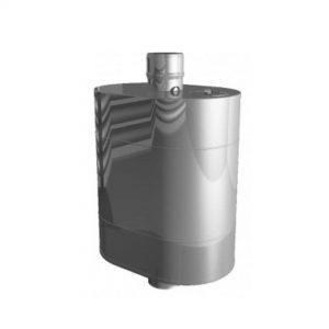 Бак на трубе для печи (50 л. ф – 115, AISI – 439 – 0,8 мм)