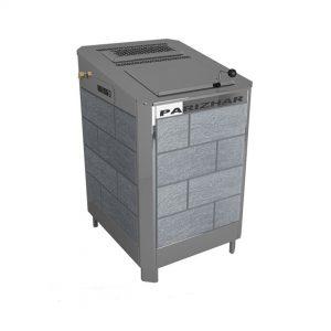Паротермальная электрическая печь «ПАР и ЖАР» (18 кВт/380 Вт) – облицовка из природного камня.