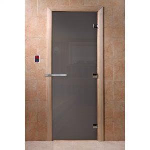 Дверь DoorWood Графит 190*70  (6 мм – две петли – коробка хвоя)